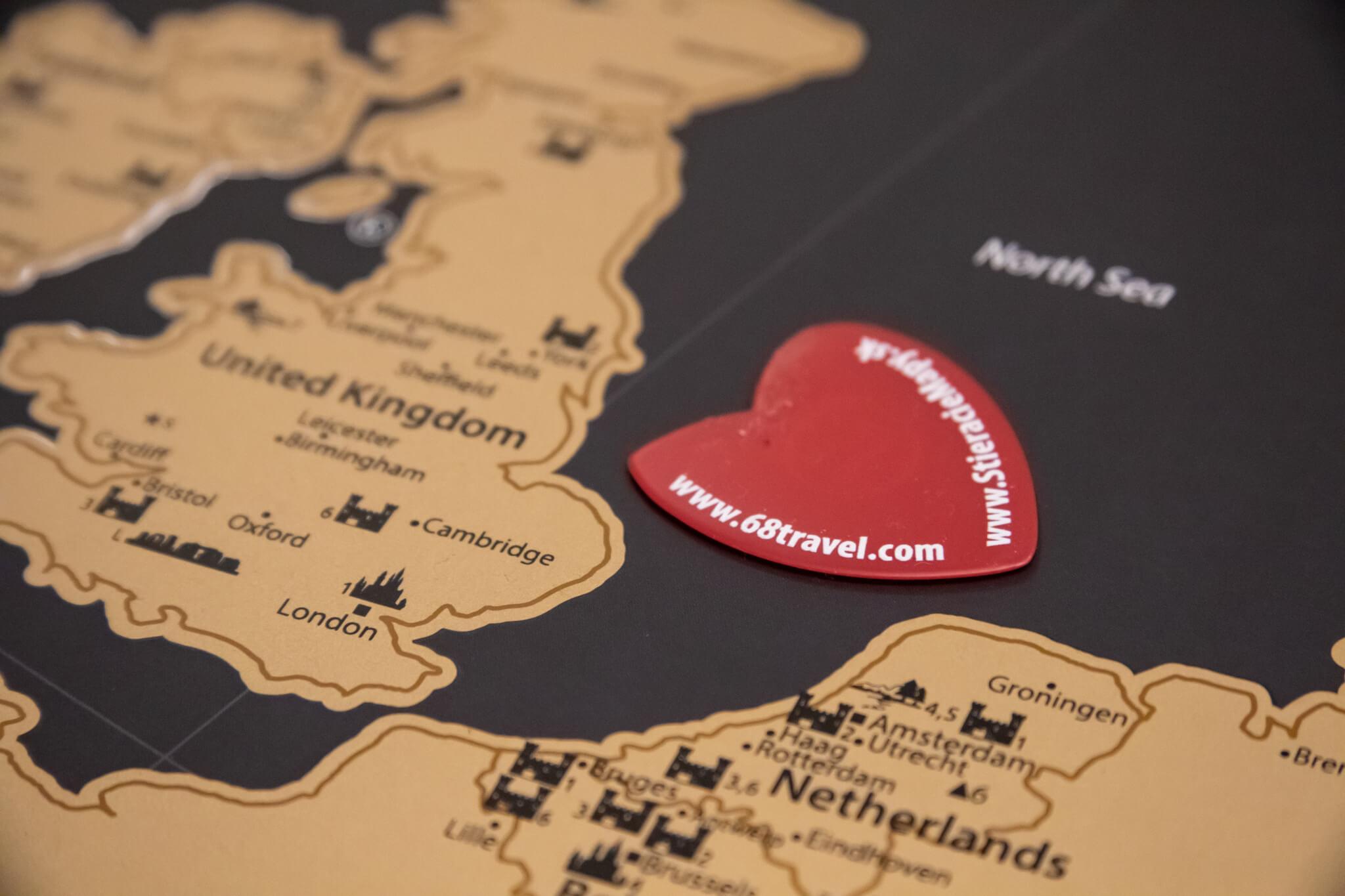 Scratch Map of Europe - Detail of scratcher