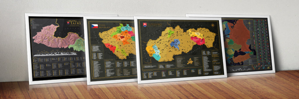 Our range of scratch maps