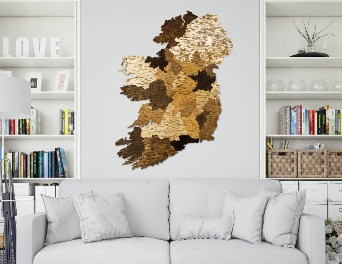 Wooden Map of Ireland