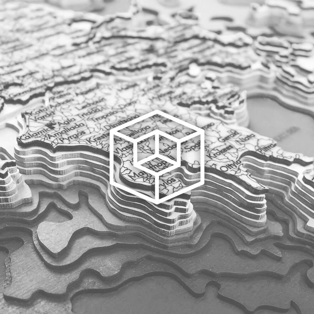 3D Wooden Maps