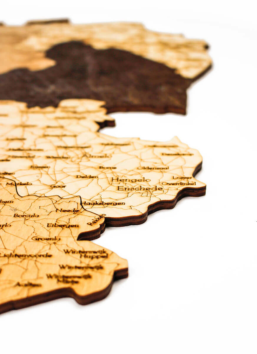 Wooden Map of Netherlands