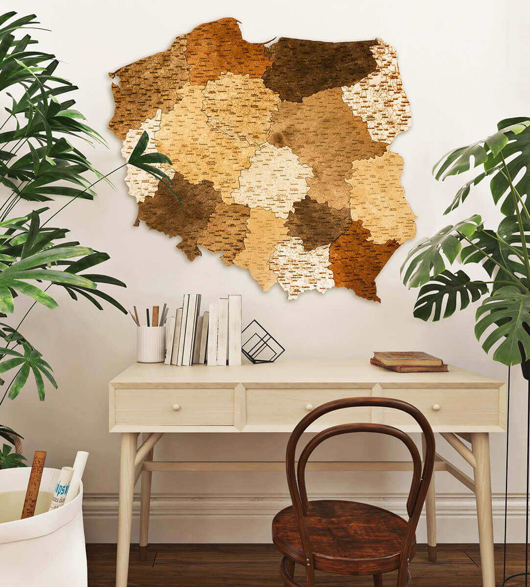 Wooden Map of Poland