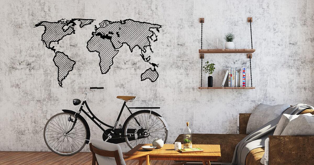 Traveler Line wooden map