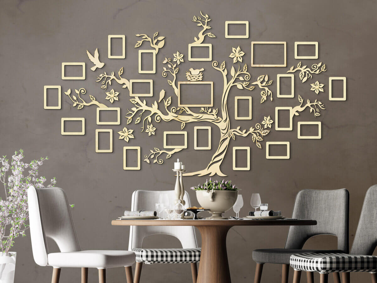 Wooden Family Tree - Wall Decoration
