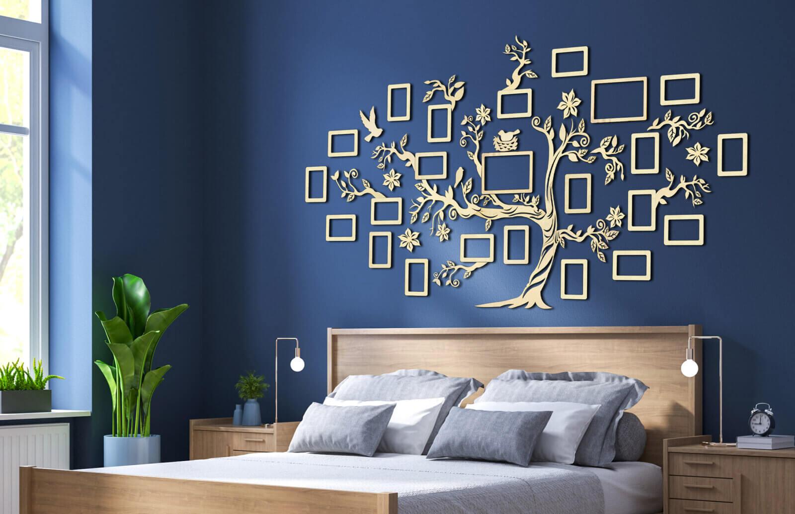 Wooden Family Tree - Wall Decoration