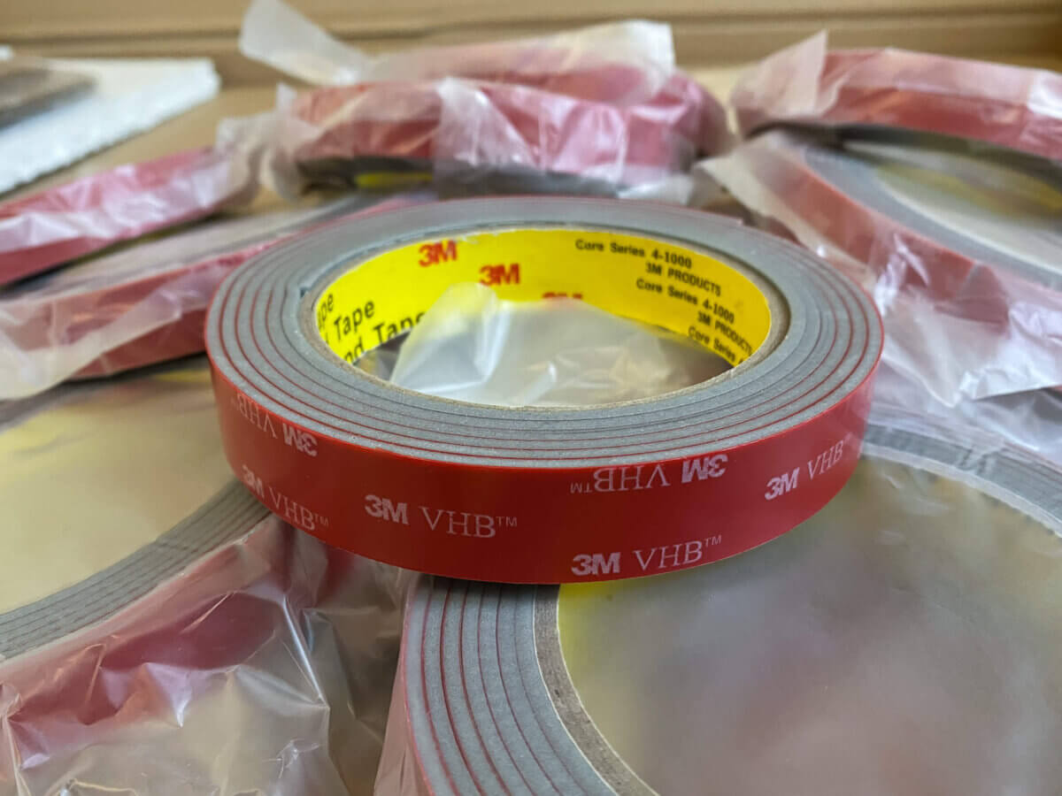 3M VHB - acrylic double-sided tape for wooden map