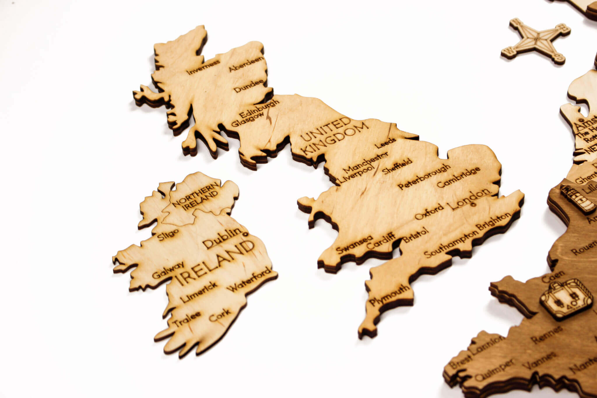 Wooden Map of Europe