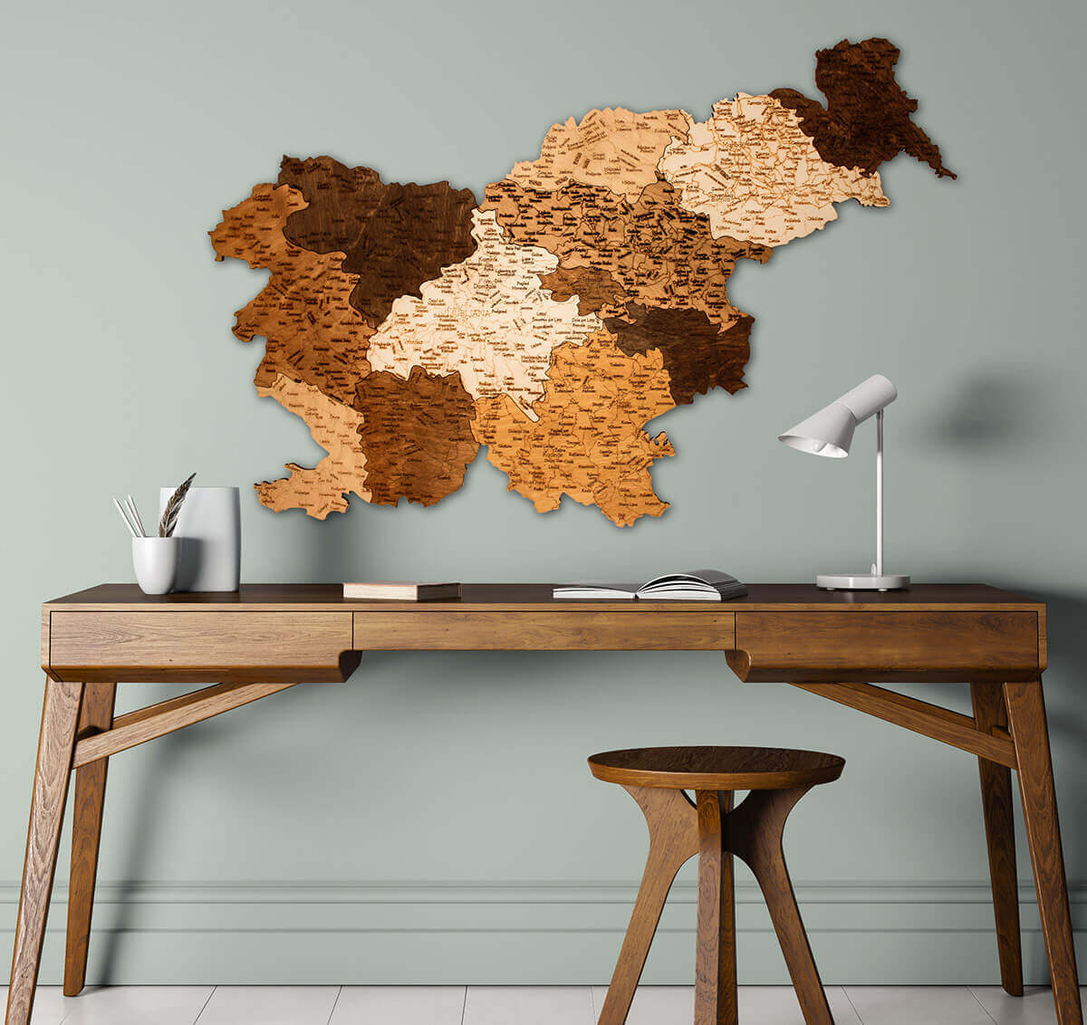 Wooden Map of Slovenia