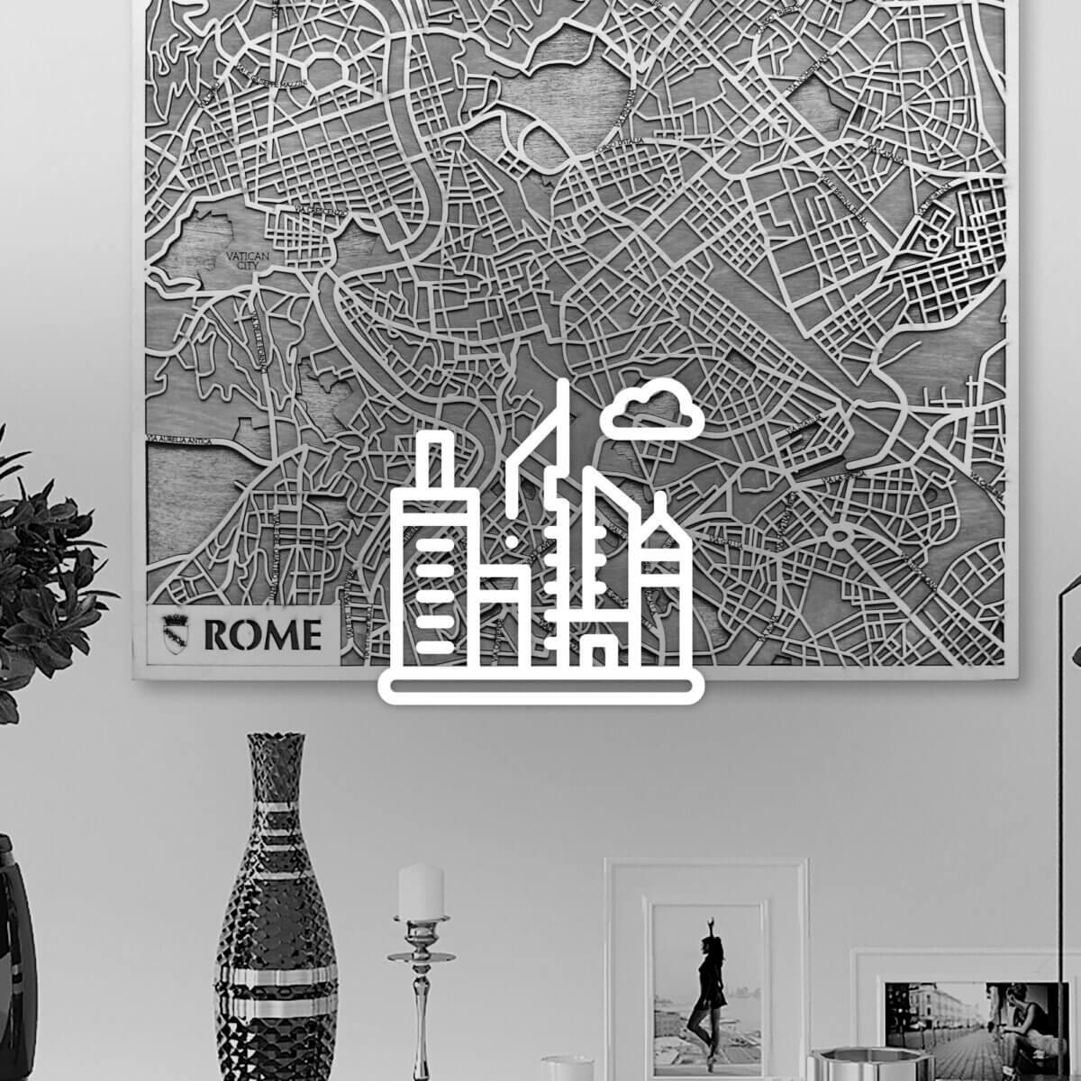 Wodden 3D City Maps