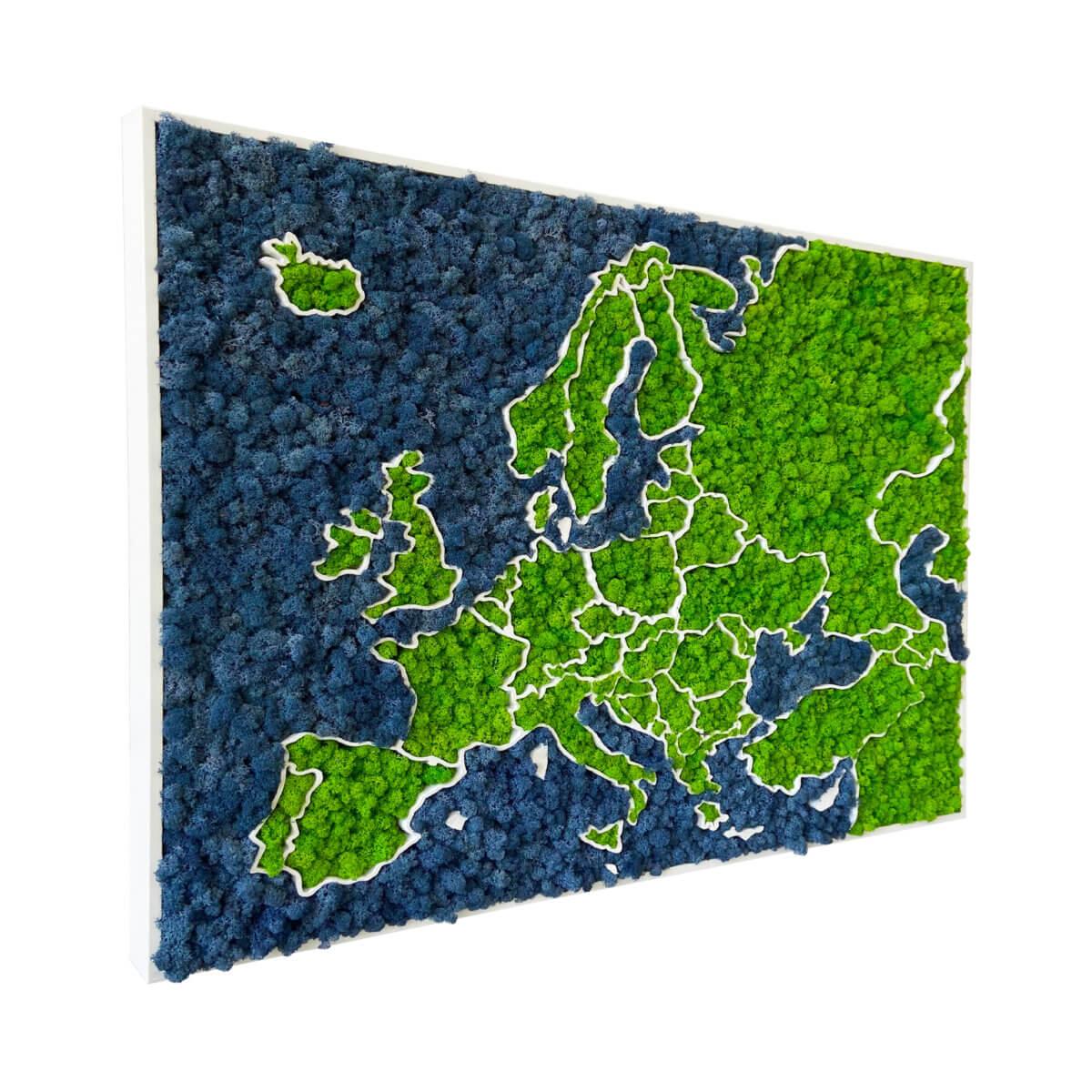 3D Moss Europe Map - organic lichen