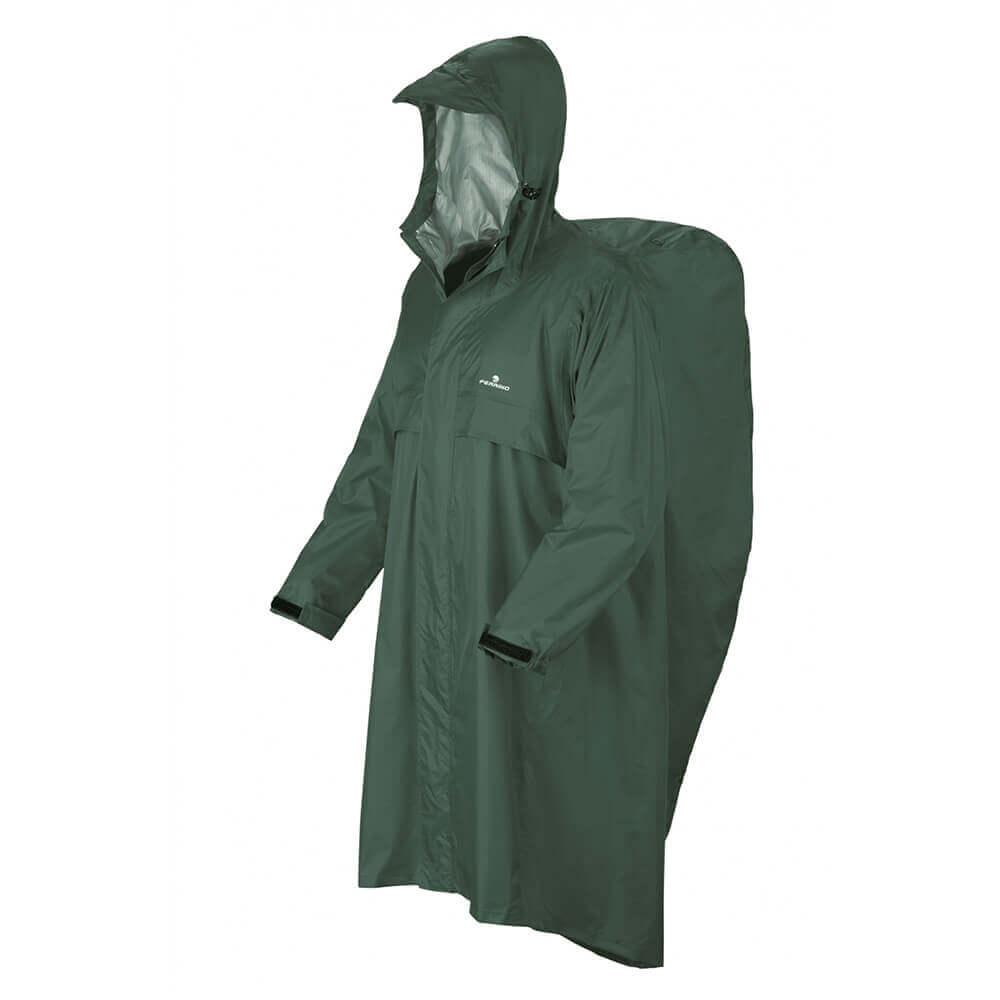 Raincoat Ferrino Trekker l/xl-forest-green