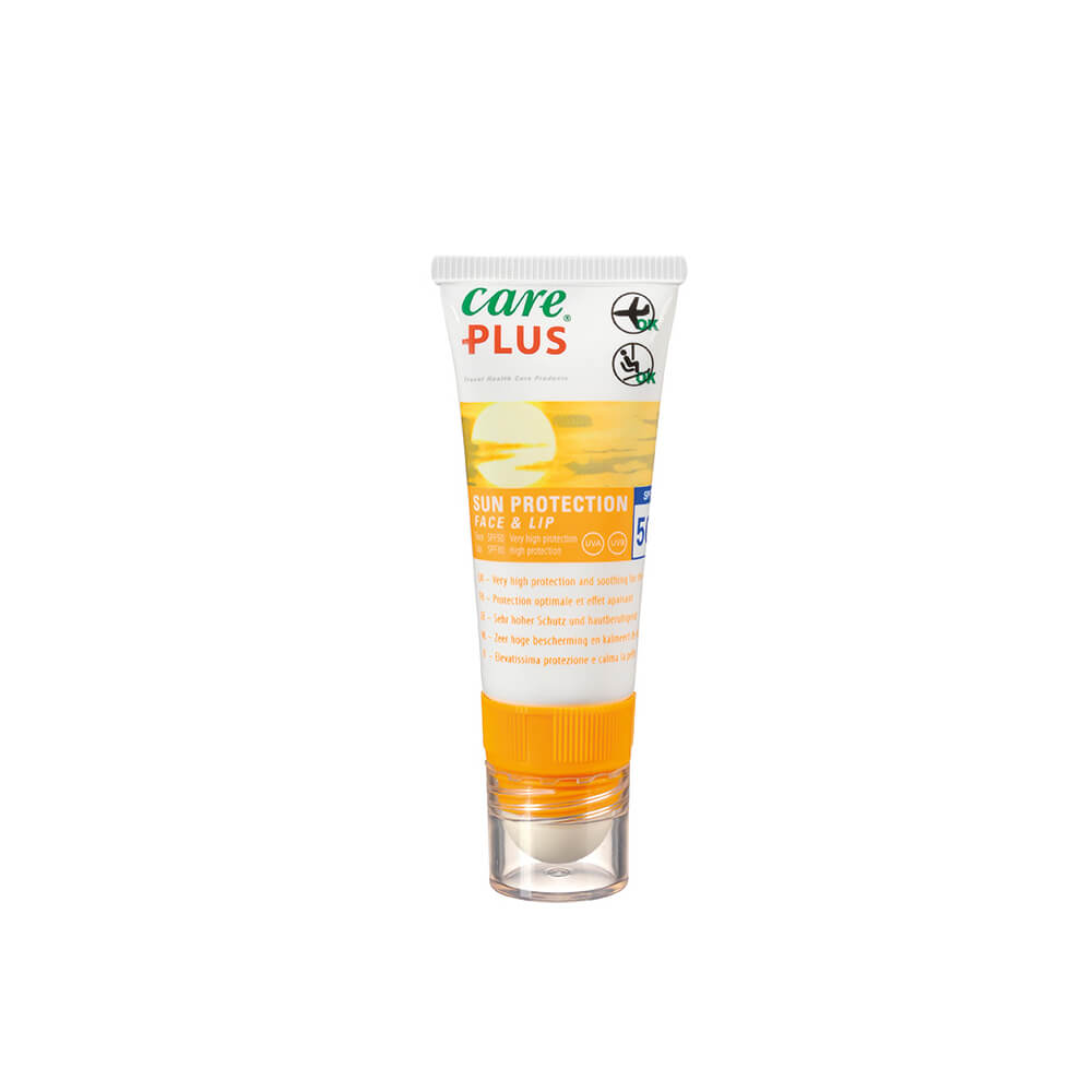 Care Plus Sun Protection Face and Lip SPF-50